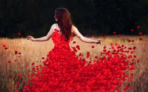 Image from http://www.mrwallpaper.com/woman-flower-petals-dress-wallpaper/